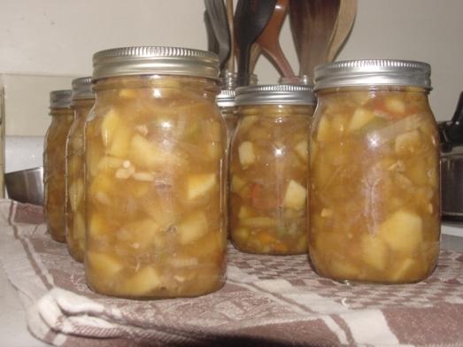apple-fennel chutney