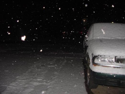 Snow October 12 2009 2